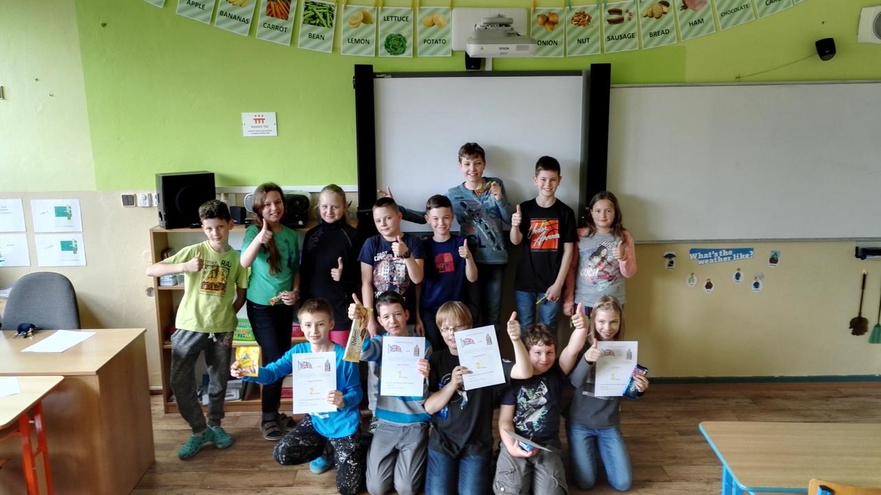 Konverzační soutěž  čtvrtých a pátých ročníků