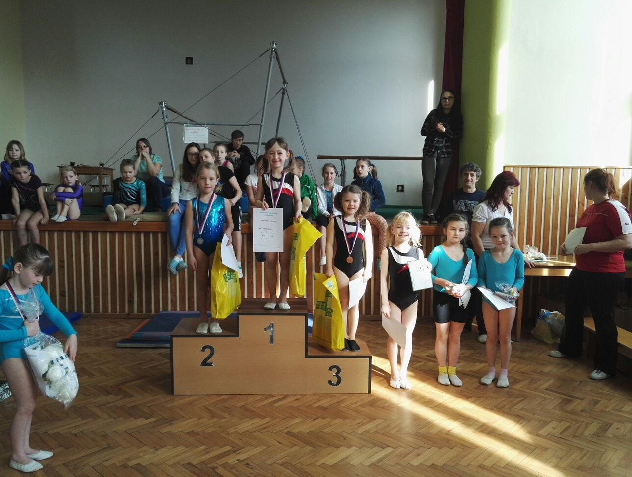 Gymnastky soutěžily