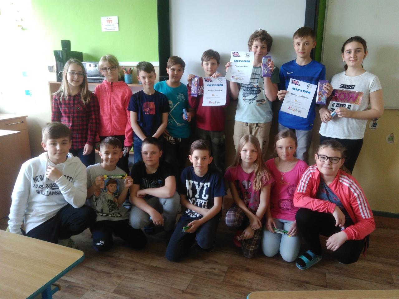 Konverzační soutěž 4. a 5. ročníků v anglickém jazyce
