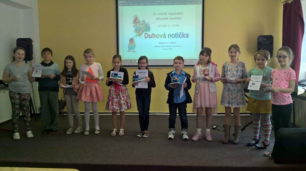 II. ročník regionální pěvecké soutěže DUHOVÁ NOTIČKA