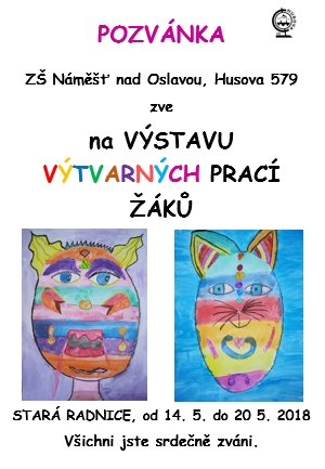 Pozvánka na výstavu výtvarných prací žáků